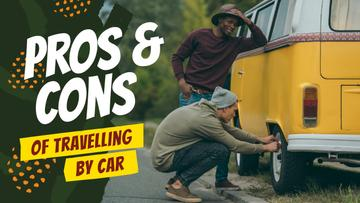 Travelling Tips People Changing Car Tire | Youtube Thumbnail Template