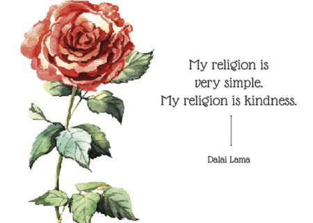 Citation about very simple religion   Card – шаблон для дизайна