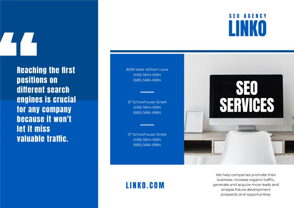 SEO Services Ad on Monitor Screen — Створити дизайн