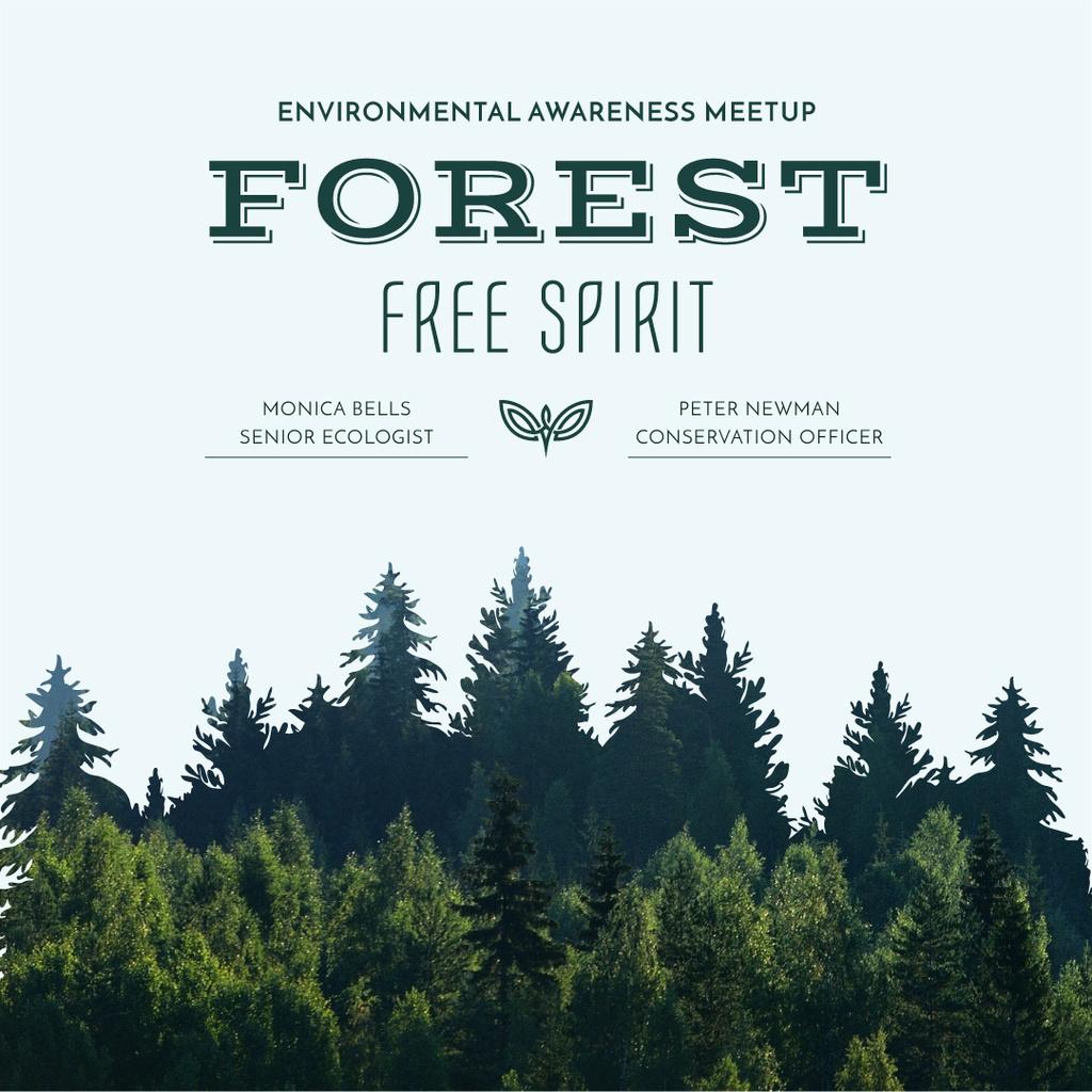 Forest free spirit - Environmental awareness meetup — Create a Design