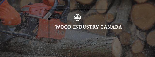 Plantilla de diseño de Wood industry with Firewood Facebook cover