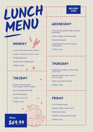 Plantilla de diseño de Cafe Weekly offer Menu