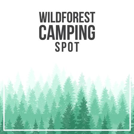 Template di design Green coniferous Foggy Forest Animated Post