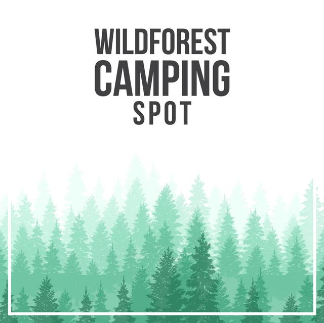 Plantilla de diseño de Green coniferous Foggy Forest Animated Post