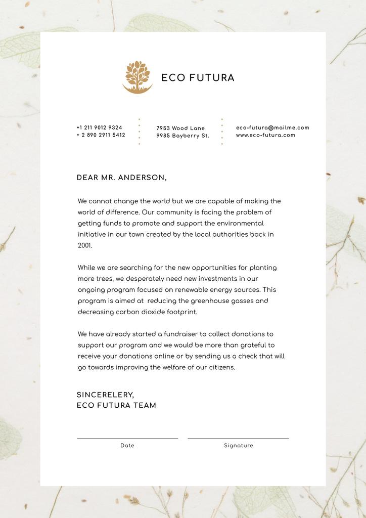 Eco Company fundraising offer — ein Design erstellen