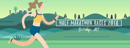 Plantilla de diseño de Girl running outdoors Facebook Video cover