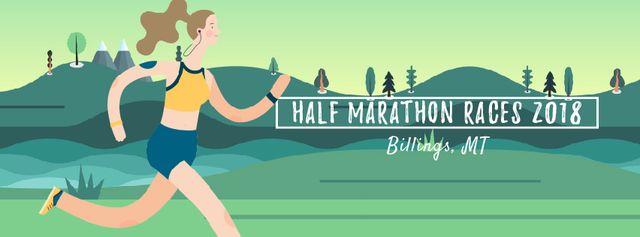 Plantilla de diseño de Girl running outdoors Facebook Video cover