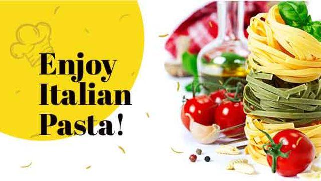Plantilla de diseño de Delicious Italian pasta Title