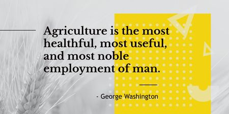 Agricultural Quote with Ears of Wheat in Field Twitter Modelo de Design
