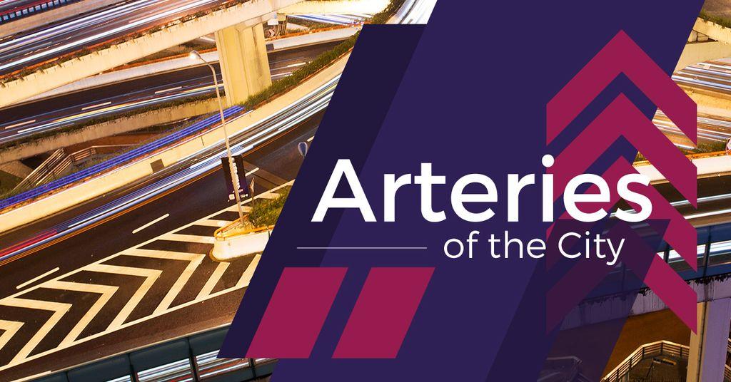 Modèle de visuel Traffic junction with arteries of the city - Facebook AD