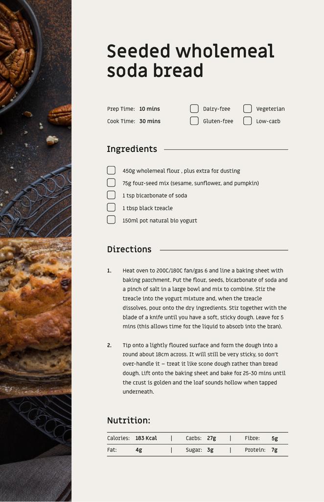 Seeded Wholemeal Soda Bread — Maak een ontwerp