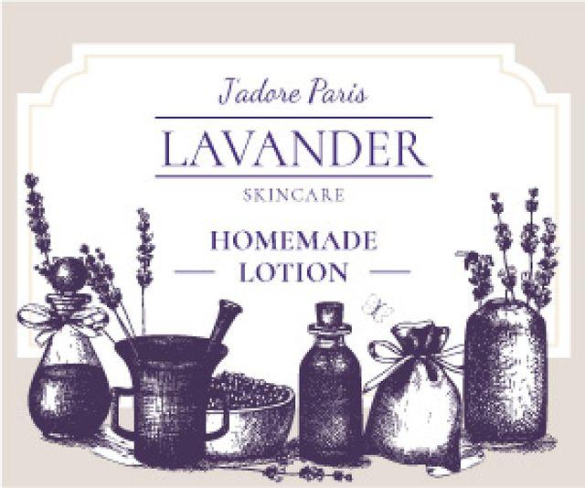 Lavender skincare illustration Medium Rectangle Modelo de Design