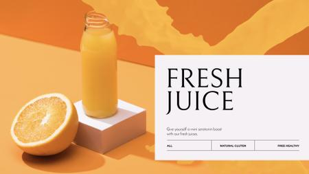Fresh orange Juice in bottle Full HD video Modelo de Design