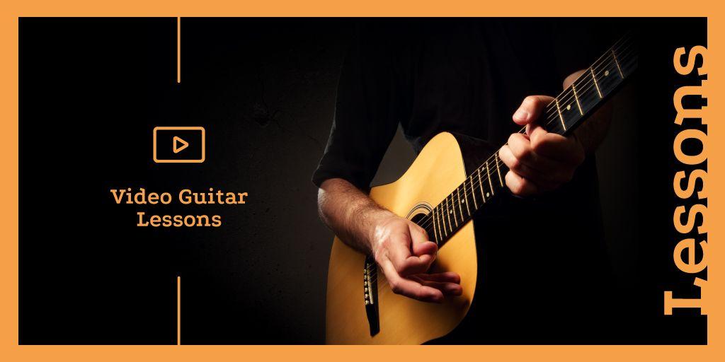 Man playing guitar — Create a Design