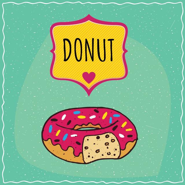 Delicious Pink Doughnut Animated Post Modelo de Design