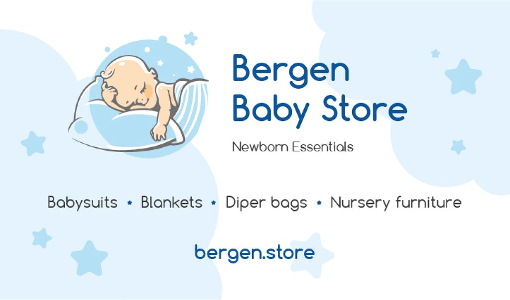 Baby Store Ad with Baby Sleeping —デザインを作成する