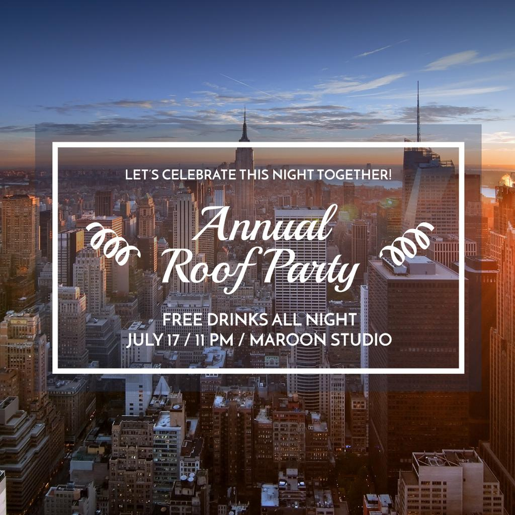 Roof party invitation — Создать дизайн