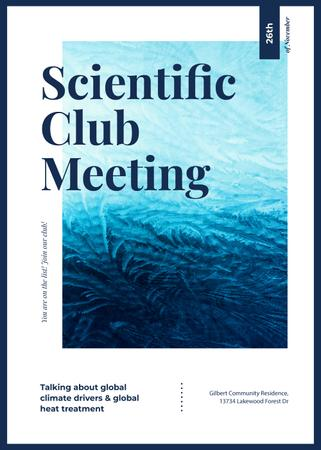 Scientific Club meeting ad on Frozen pattern Invitation Design Template