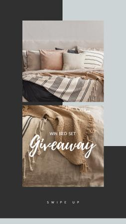 Furniture store Giveaway announcement Instagram Story Modelo de Design