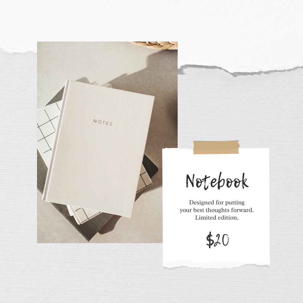 Notebook Offer in white Frame — Modelo de projeto