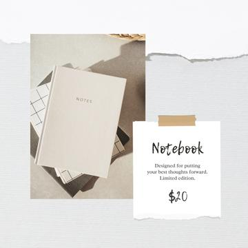 Notebook Offer in white Frame