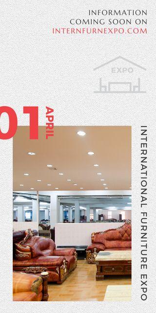 Ontwerpsjabloon van Graphic van Furniture Expo invitation with modern Interior