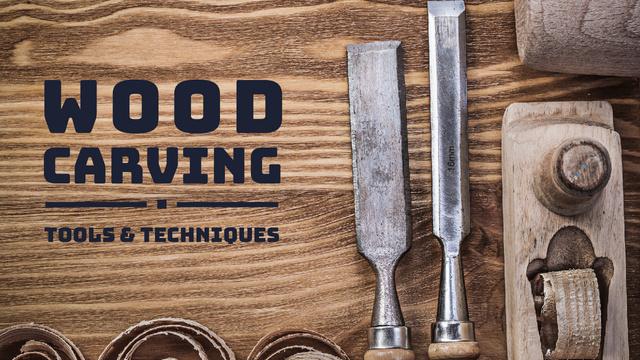 Plantilla de diseño de Wood Craft Workshop Tools Youtube Thumbnail