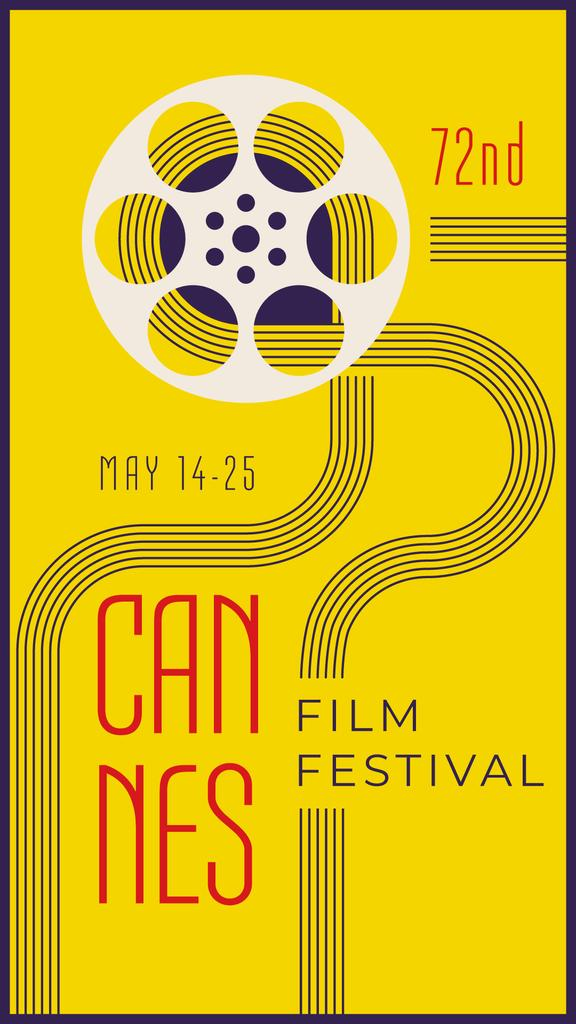 Cannes Film Festival on yellow —デザインを作成する
