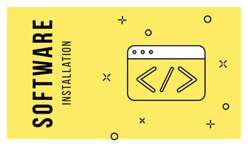 Software Message Icon in Yellow | Business Card Template