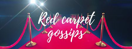 Plantilla de diseño de Walking on red carpet Facebook Video cover
