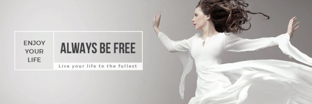 Inspiration Quote Woman Dancer Jumping | Email Header Template — Crea un design