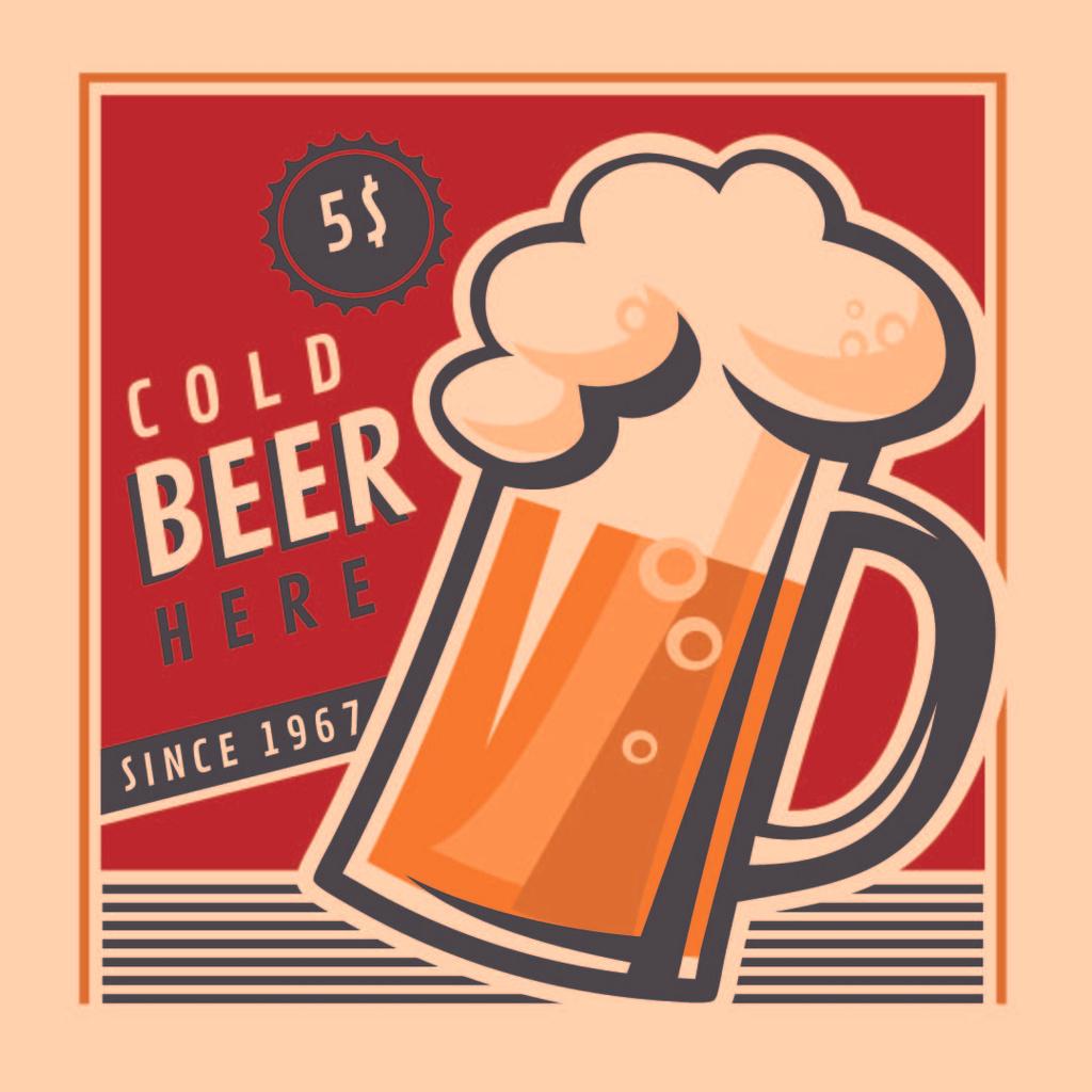 Beer Offer in vintage style — Modelo de projeto