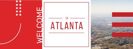 Plantilla de diseño de Atlanta city view Facebook cover
