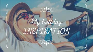 Vacation Inspiration Couple Riding in Car | Youtube Thumbnail Template