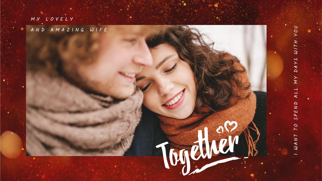 Happy romantic Couple on Valentine's Day — Create a Design