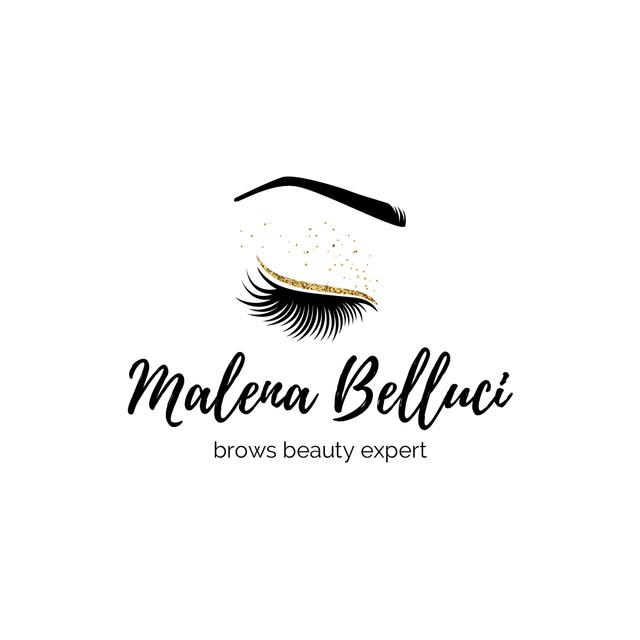 Plantilla de diseño de Brow Bar Ad with Female Eye and Lashes Logo