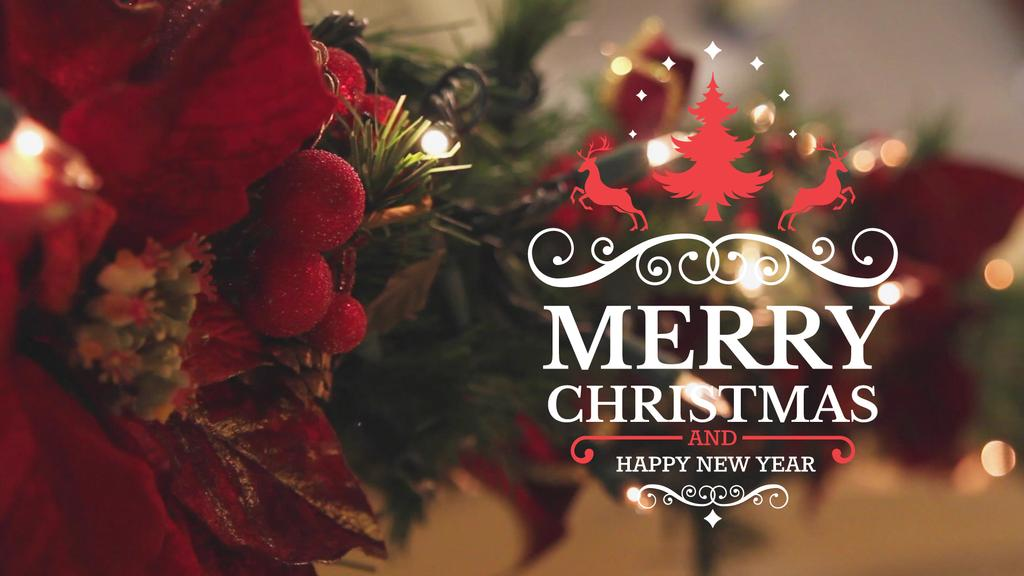 Blinking Garland On Christmas Tree Full Hd Video 1920x1080px