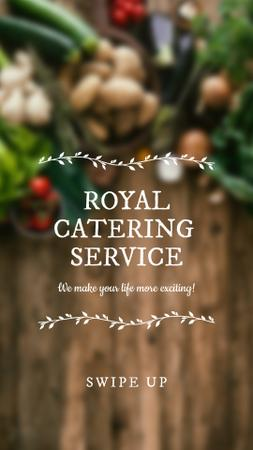 Template di design Catering Service Vegetables on table Instagram Story