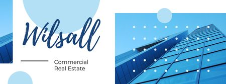 Plantilla de diseño de Modern glass building Facebook cover