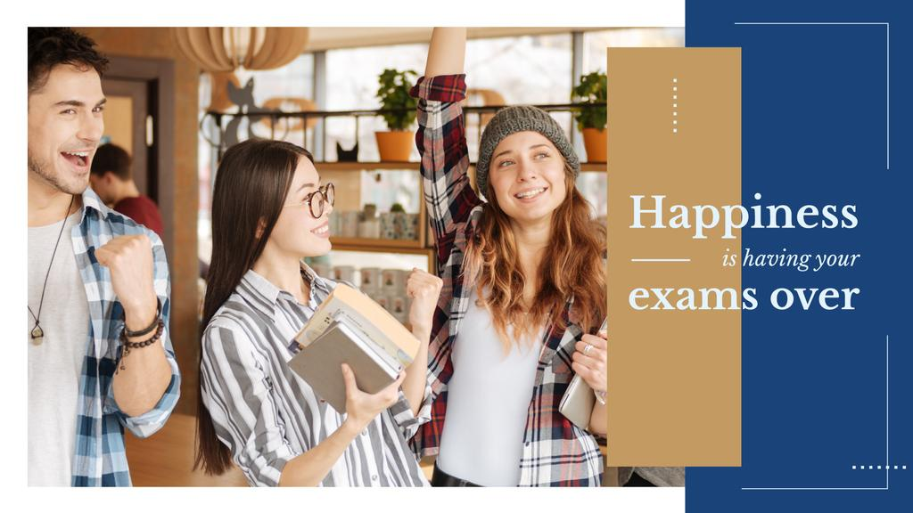 Happy Students in college — Створити дизайн