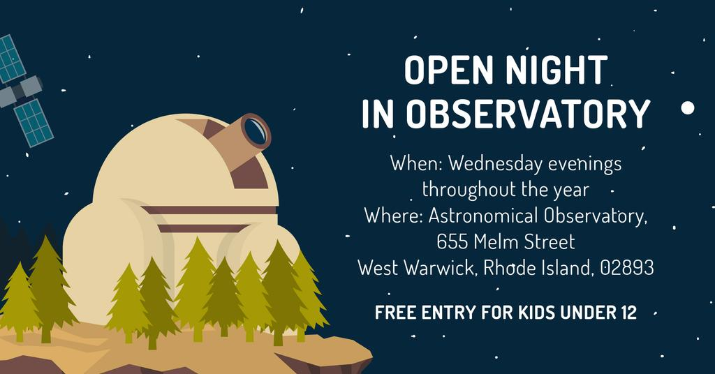 Open night in Observatory — Створити дизайн