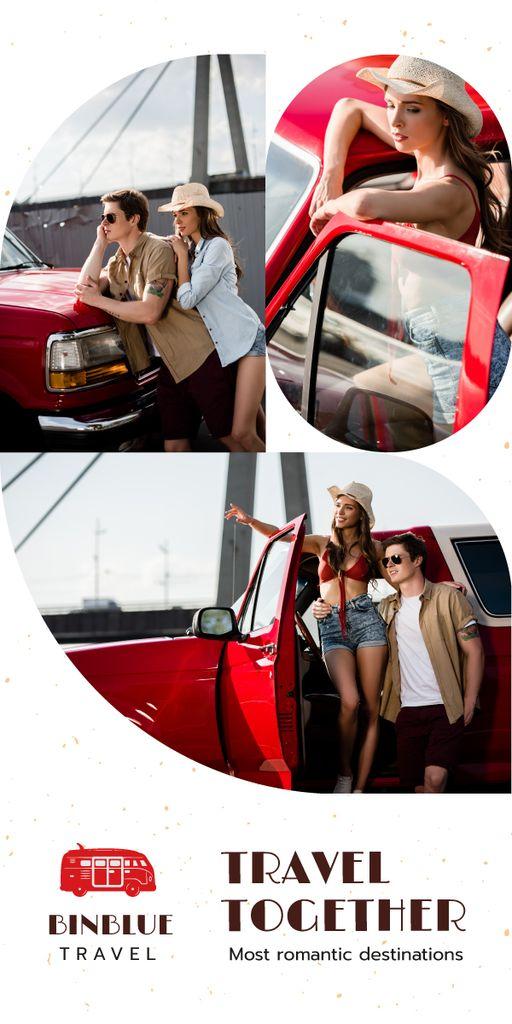 Travel Tour Promotion Couple Travelling by Car — Создать дизайн