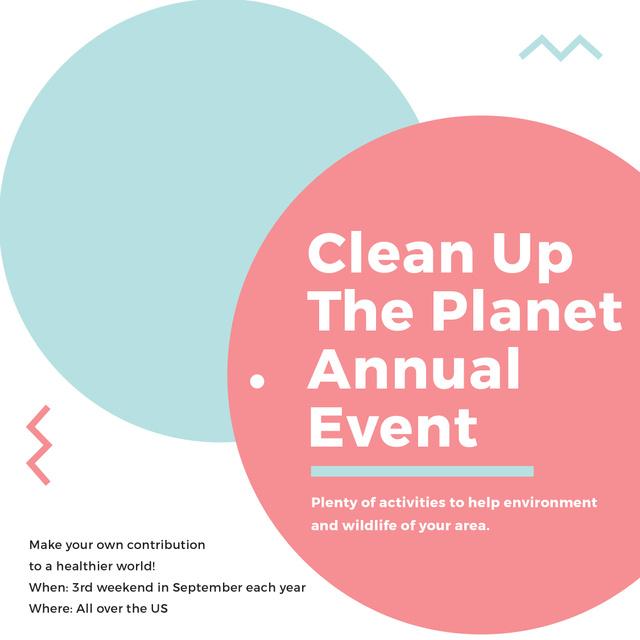 Ecological Event Simple Circles Frame Instagram AD Modelo de Design