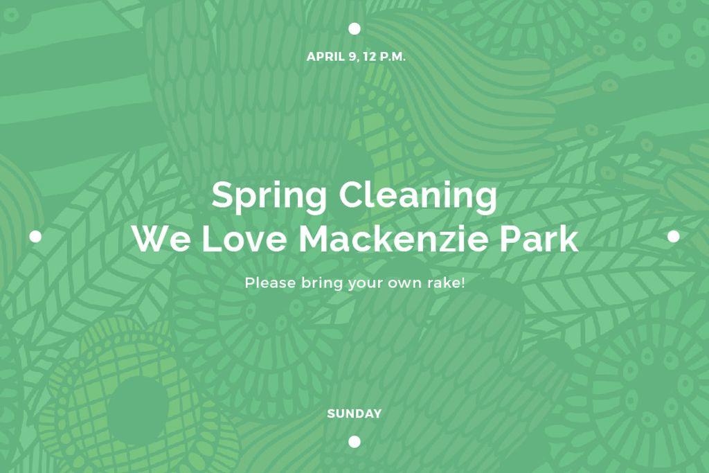 Spring cleaning in Mackenzie park — Modelo de projeto