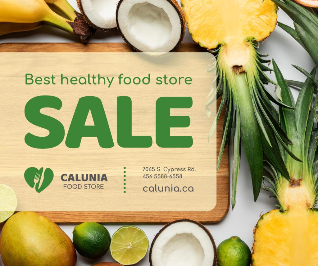 Food Store Offer Fresh Tropical Fruits — ein Design erstellen