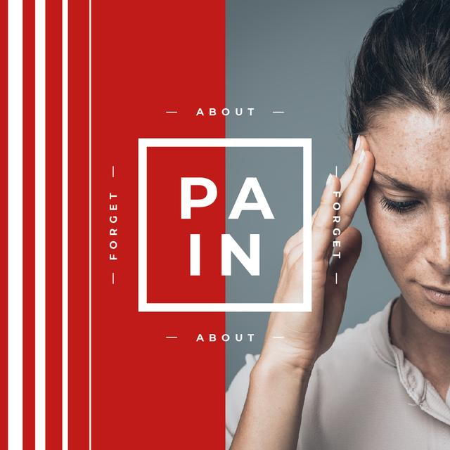 Woman suffering from Headache Instagram AD – шаблон для дизайна