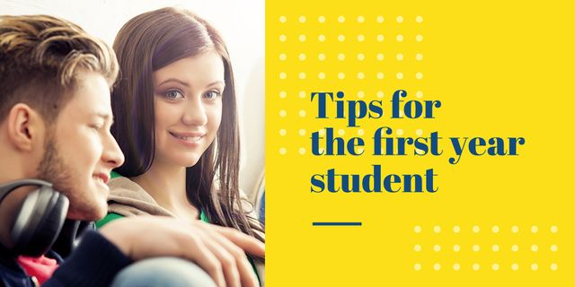 Ontwerpsjabloon van Twitter van Tips for the first year student