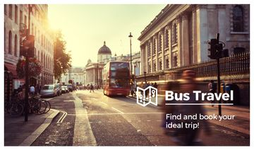 Bus on Old City Street | Business Card Template