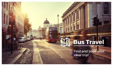 Template di design Bus on Old City Street Business card