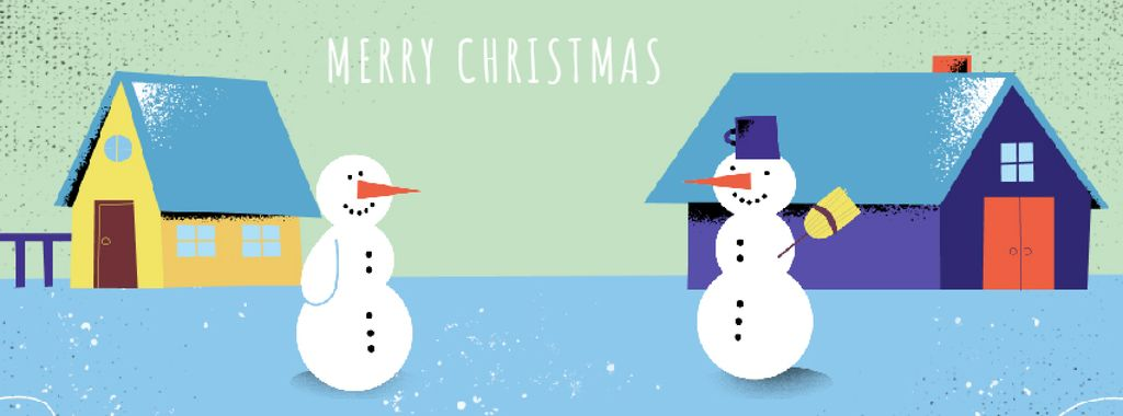 Two funny snowmen — Crea un design